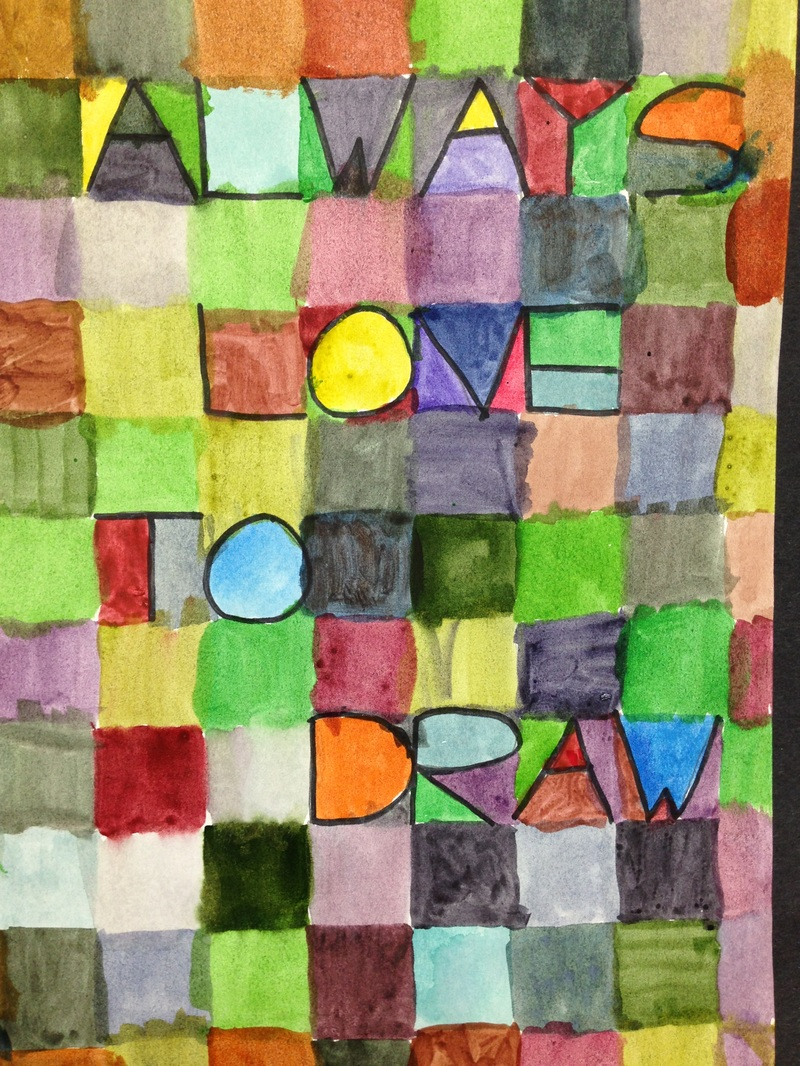 Paul Klee Color Block Letters Ms Campbell S Classes