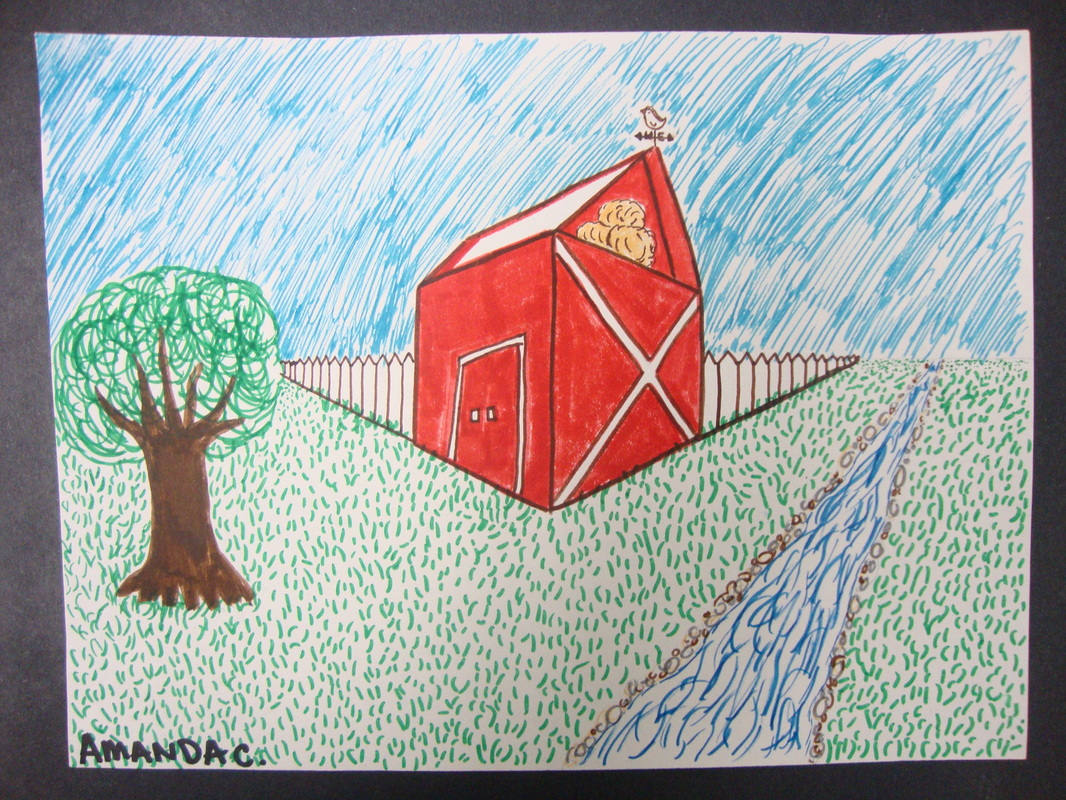 Barns In Two Point Perspective Ms Campbell S Classes